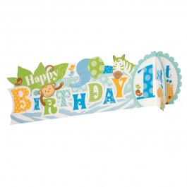 Blue Safari First Birthday Deluxe 3D Centerpiece (1)