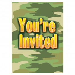 Camo Party Invitations (8)
