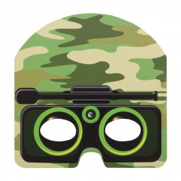 Camo Party Masks (8)