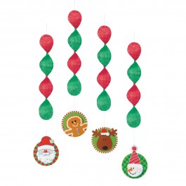 "Christmas Hanging Decorations 18"" (4)"