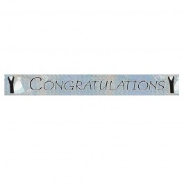 Bride & Groom Congratulations Prism Banner 9 ft. (1)
