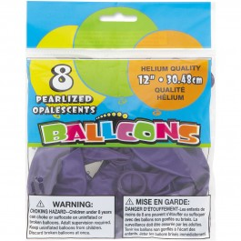 Concord Purple Pearlized Balloons (8)