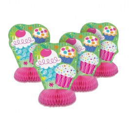 Cupcake Party Mini Honeycomb Centerpiece (4)