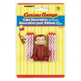 Curious George Cake Decorator With 6 Candles (1)