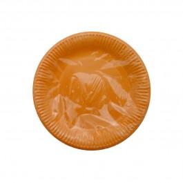 Orange Round Dessert Plates (8)