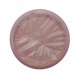 Pink Round Lunch Plates (8)