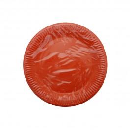 Red Round Dessert Plates (8)