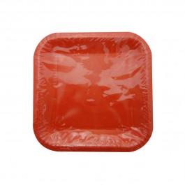 Red Square Dessert Plates