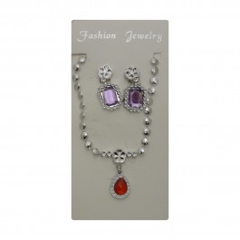 Red Oval Pendant Set (1)