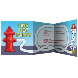 Firefighter Invitations (8)