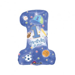 First Birthday All Star Boy Foil Balloon (1)
