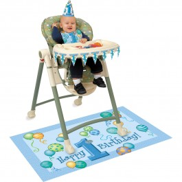 First Birthday Blue High-Chair Kit (1)