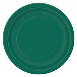 Forest Green Round Dessert Plates (20)