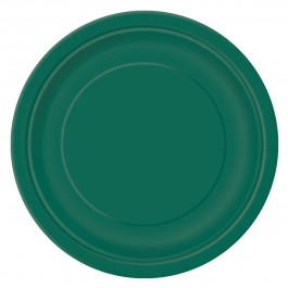 Forest Green Round Lunch Plates (16)