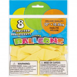 Golden Yellow Pearlized Balloons (8)