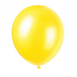 Golden Yellow Pearlized Balloons (10)
