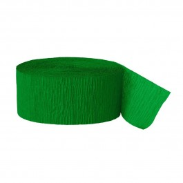 Green Crepe Streamers (6)