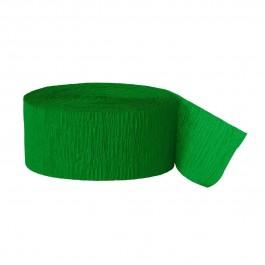 Green Crepe Streamers (6)