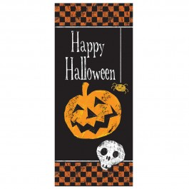 Checkered Halloween Door Poster (1)