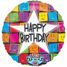 "Happy Birthday Faces Sing-A-Tune 28"" (1)"