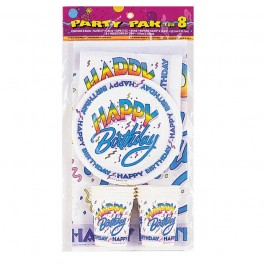 Happy Birthday Party Pack for 8 (1)
