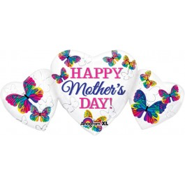 "Happy Mother's Day Heart Trio 34"" (1)"