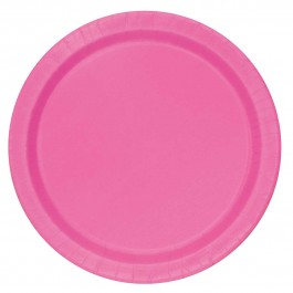 Hot Pink Lunch Plates (16)