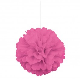 Hot Pink Puff Decor (1)