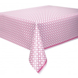 Hot Pink Quatrefoil Tablecover (1)