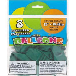 Jade Green Pearlized Balloons (8)