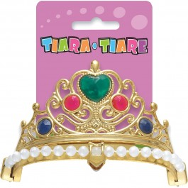 Jeweled Tiara Assorted (Gold/Silver) (1)