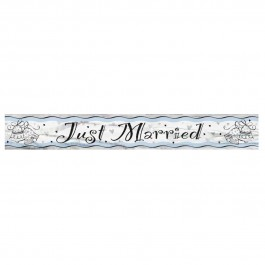 Just Married Foil Banner 12 ft. (1)
