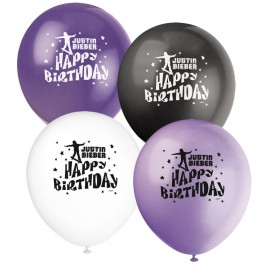 Justin Bieber Birthday Latex Balloons (8)