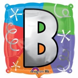 "18"" Letter B Quad Foil Balloon (1)"
