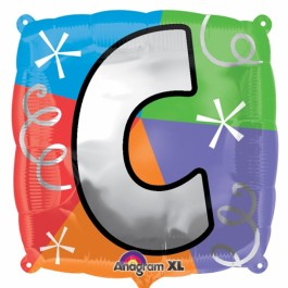 """18"""" Letter C Quad Foil Balloon (1)"""