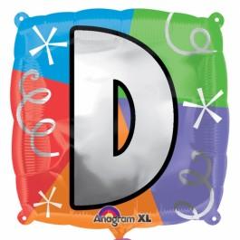 """18"""" Letter D Quad Foil Balloon (1)"""