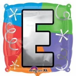 """18"""" Letter E Quad Foil Balloon (1)"""