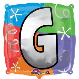 "18"" Letter G Quad Foil Balloon (1)"