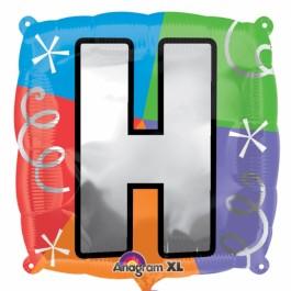 """18"""" Letter H Quad Foil Balloon (1)"""
