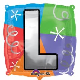 """18"""" Letter L Quad Foil Balloon (1)"""