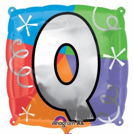 """18"""" Letter Q Quad Foil Balloon (1)"""