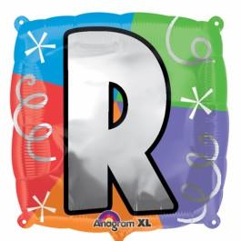 """18"""" Letter R Quad Foil Balloon (1)"""