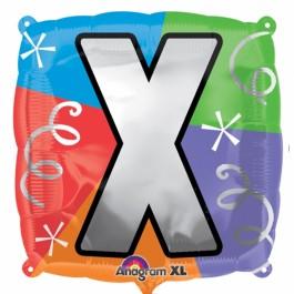 """18"""" Letter X Quad Foil Balloon (1)"""