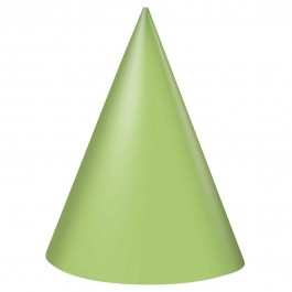 Lime Green Party Hats (8)