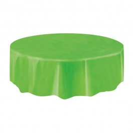 Lime Green Round Table Cover (1)