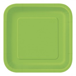 Lime Green Square Dessert Plates (16)