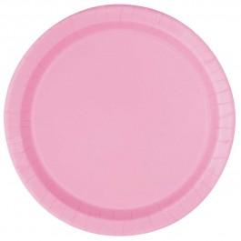Lovely Pink Round Dessert Plates (20)