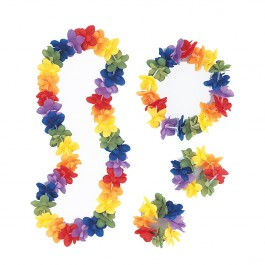 Luau Tropical Flower Leis Package (1)