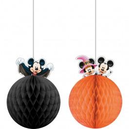 Mickey Halloween Honeycomb Decorations (2)