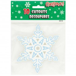 "Mini Snowflake Cutouts 5"" (10)"